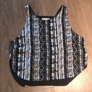 Silence + noise Patterned Top